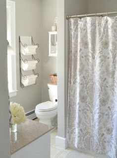 Bathroom refresh | paint color is Sherwin Williams Stone Isle