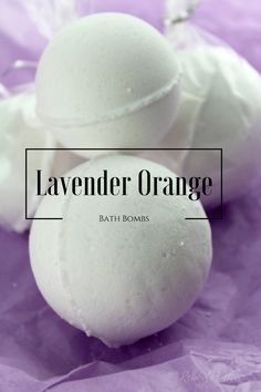 Combine Lavender and Orange Essential Oils to make these relaxing and fresh Bath Bombs.