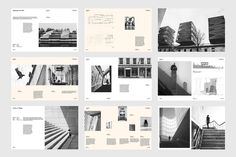 Architect Portfolio : Indd template 40 pages document & Letter size + bleed Master Pages Character style Paragraph style Fully editable CMYK 300 DPI Free font used Portfolio Design Layouts, Architect Portfolio Design, Portfolio D'architecture, Architecture Portfolio Template, Mise En Page Portfolio, Layout Design, Architecture Design, Architect Logo, Architect House