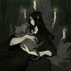 Cerberus #cerberus #dark #macabre #illustration #abigaillarson