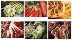 Beautiful fruit drawings by Sucha Chantaprasopsuk from Reavis High School Could be a photo idea too!