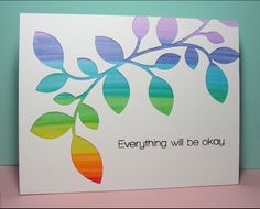 die-cut the Clustered Leaves Die from the white cardstock and then adhered it onto a vellum panel, which I had colored by swiping it with ...