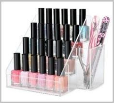 Get off now on Nail Polish Organiser Display Stand Rack Clear Acrylic Makeup Gift Makeup Storage, Makeup Organization, Clear Acrylic Nails, Nail Polish Storage, Acrylic Organizer, Jewellery Display, Best Makeup Products, Display Case, Makeup Vanities
