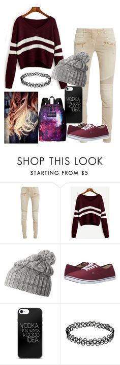 """Untitled #272"" by kayladallas7 on Polyvore featuring Balmain, Helly Hansen, Vans and JanSport"