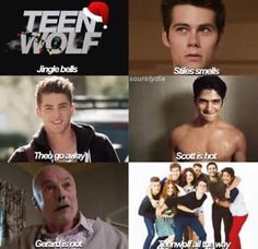 Most popular tags for this image include: teen wolf, christmas, stiles stilinski, funny and jingle bells