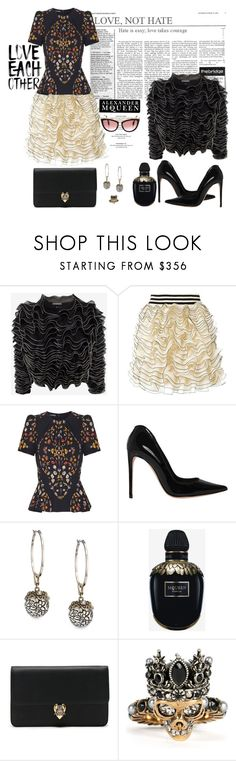 """Alexander McQueen#2"" by confusgrk ❤ liked on Polyvore featuring Alexander McQueen, Monday, contestentry and AmiciMei"