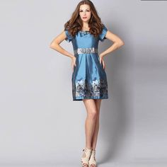 NEONICE Retro Jacquard Court Wind Dress Blue RM30L [RM30L] - $106.00 : Celebwill official web site - Luxury and french dresses Designer.  http://www.celebwill.com/neonice-retro-jacquard-court-wind-dress-blue-rm30l-p-6565.html