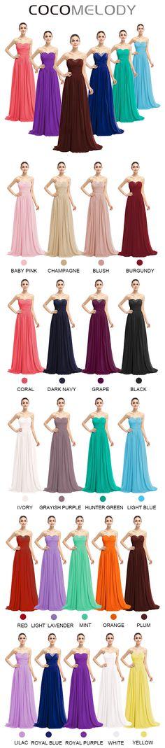 Sheath-Column Sweetheart  Chiffon Living Sleeveless Lace Up-Corset Bridesmaid  Dresses COLT1400D. #wedding #bridesmaiddresses #cocomelody #customdresses