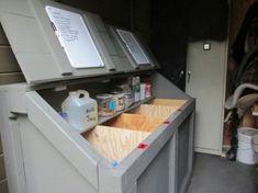 Horse feed bin. We included a shelf