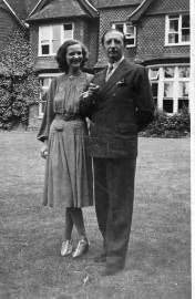 Geraldine and Zog at their house in Buckinghamshire, England
