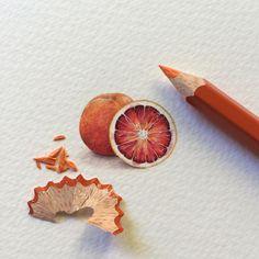 15.2K vind-ik-leuks, 52 reacties - Lorraine Loots (@lorraineloots) op Instagram: 'Miniature BLOOD ORANGE painted for @bloedlemoengin in November 2015.   27 mm x 21 mm.'