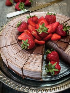 Raw-Strawberry-and-Chocolate-Zebra-Cheesecake I need a lower carb crust - but I think vegan cheesecakes are just amazing!