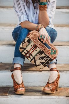 Tooled leather accessories https://WesternSkiesHandmade.com Leather Carving, Hand Tools, Shoulder Bag, Handbags, Watches, Accessories, Fashion, Moda, Side Purses