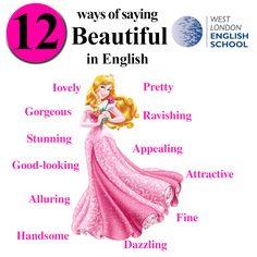 12 Ways of saying beautiful