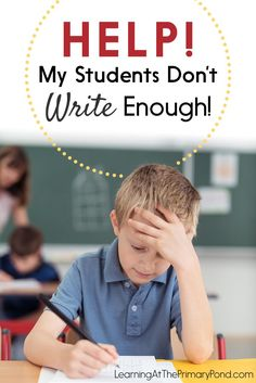 My Students Don't Write Enough! My Students Don't Write Enough! I'm sharing the strategies that I use when some of my students just aren't writing enough. - Learning at the Primary Pond Writing Lessons, Writing Resources, Writing Skills, Writing Ideas, Parent Resources, Creative Writing, Kindergarten Writing, Teaching Writing, Teaching Tips