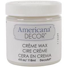 Deco Art Americana Decor Creme Wax, 4-Ounce, Clear