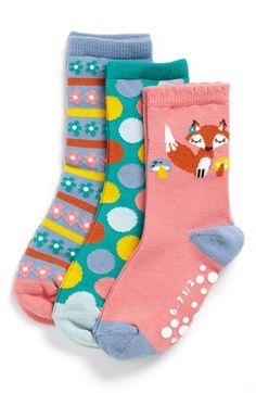 Nordstrom 'Foxy Lady' Crew Socks (3-Pack) (Toddler Girls & Little Girls)   Nordstrom