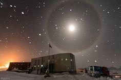 """""""Blue Moon Halo in Antarctic Snow"""" by Hang Li (TWAN)"""