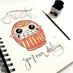 Daruma's illustration by Penknives Design