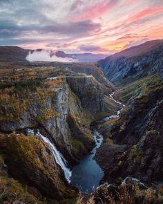 Magnificent twilight scene! / Vøringfossen Norway / Snapmotive / via UNILAD Adventure / theadventurouslife4us.tumblr.com Say Yes To Adventure