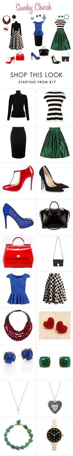 """""""sunday church"""" by vivi-21 ❤ liked on Polyvore featuring Victoria, Victoria Beckham, Victoria Beckham, Alexander McQueen, Christian Louboutin, Jimmy Choo, GUESS, Givenchy, Dolce&Gabbana, Jaeger and Chicwish"""