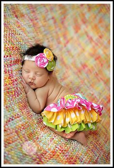 ARIELLLLL ! HOT PINK YELLOW AND LIME POLKA DOT RUFFLE BLOOMERS BY AMWOO254, $46.00