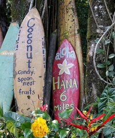 I love this as a litle cute prop in my side/back yard! Road to Hana, Maui, Hawaii - I have this exact picture that I took on our travel to Hana? Trip To Maui, Maui Vacation, Surf Trip, Bali Travel, Hawaii Travel, Surf Travel, Swimming Party Ideas, Road To Hana, Surfer Style
