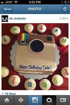 Instagram Cake... another idea for the cake