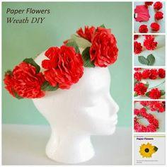 Paper Flower Tutorial Craft Recap | Handmade Flowers #craft paper flowers tutorial