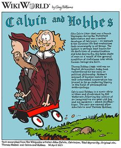 Named after John Calvin and Thomas Hobbes. #ComicStrips #CalvinAndHobbes