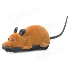 ST-222 2.7Mhz 2-CH Radio Control R/C Simulation Plush Mouse w/ Remote Controller - Brown + Black. Brand N/A Model ST-222 Quantity 1 Piece(s) per pack Color Brown + black Material Plush + PVC Channel 2 Channels Channel Specification Up / Down Remote Type Radio Control Remote Control Frequency 2.7 Mhz Remote Control Range 20 meters Battery Type 3 x AAA battery, not included Working Time 10~15 minutes Remote Control Type Included Remote Controller Battery 2 x AAA battery, not included Other…