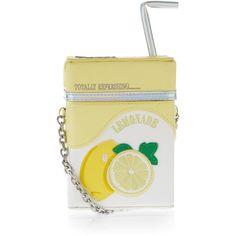 Accessorize Lemonade Carton Across Body Bag ($59) ❤ liked on Polyvore featuring bags, handbags, shoulder bags, cross body, straw handbags, crossbody shoulder bags, embroidered handbags and accessorize handbags
