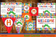 Hungry Caterpillar Inspired DIY Printable Party Package