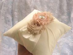 Ring Bearer Pillow Wedding Ring Pillow  Shabby by nanarosedesigns, $23.00