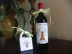 wedding wine bottle labels Tree of Love by CountryHuddle on Etsy, $2.99