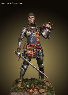King Henry V - Battle of Agincourt Medieval Knight, Medieval Armor, Medieval Fantasy, Battle Of Agincourt, English Knights, King Henry V, Medieval Paintings, Wars Of The Roses, Knight Art