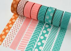 fresh Japan washi tape ~    Can be used on: Scrapbooking, Packaging, Gift Wrap, Home Decor, Party Decoration, Wedding Decoration, Collage, Card Making,