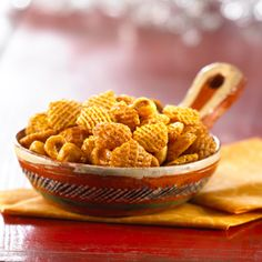 Crispix Mix Louisiana Barbecue Cayenne pepper and brown sugar add verve to this sweet-and-spicy, barbecue-flavored snack.