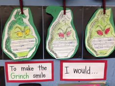 To make the grinch smile, I would...
