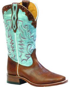 Boulet Damiana Moka Organza Dezy Cowgirl Boots - Square Toe d52639a6e