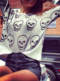 brandy melville #skull sweater