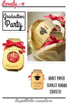 Graduation Party - Kraft paper  - Bomboniere - Confetti - Homemade    2€/cad  lepillolecreative@gmail.com