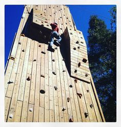 Climbing the stairway to heaven is harder than I thought. #rockwall @turningpointla #familycamp #nofear