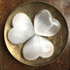 Celenite Hearts - beautiful, protective, grounding.   #naturesintentions