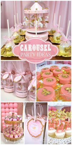 Soft colors are perfect for a 1st birthday party.