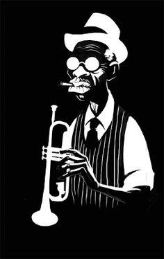 trumpet man - illustration