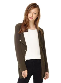 WILFRED MAYET JACKET - Relaxed yet refined tailoring in Japanese crepe with moto-inspired detailing