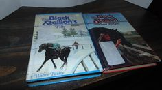 Vintage Lot Two Hardcover The Black Stallion Books 1970s 1980s Walter Farley  Random House Horses Ex Library by AltmodischVintage on Etsy