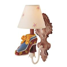 "Victorian Shoe 13"" High Wall Sconce.  look mom! it's your new light!!!"