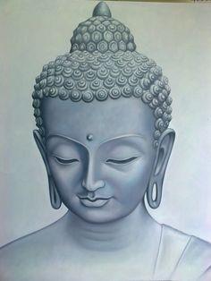 Oil Paintings from Art Jupoo & Mai Phuket Thailand Gallery Buddha Tattoos, Buddha Tattoo Design, Buddha Zen, Buddha Buddhism, Buddhist Art, Jesus And Mary Pictures, Knight Tattoo, Buddhist Philosophy, Buddha Painting